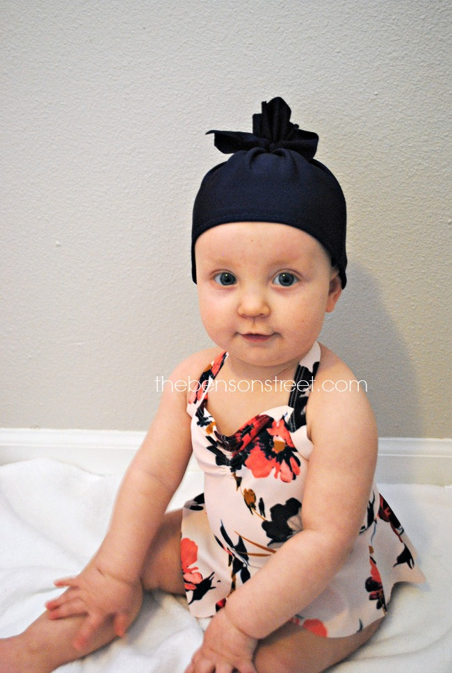 Adorable baby swim hat tutorial at thebensonstreet.com