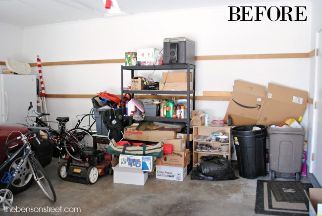 Learn how to organize your garage in an afternoon via thebensonstreet.com