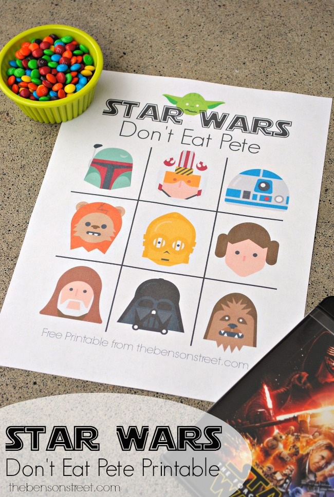 graphic relating to Don't Eat Pete Printable identified as Star Wars Dont Take in Pete Printable - The Benson Highway