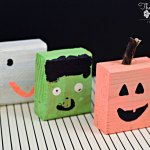Kid Halloween Craft Blocks