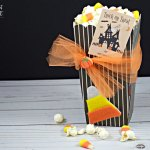 Halloween Candy Corn Popcorn Box