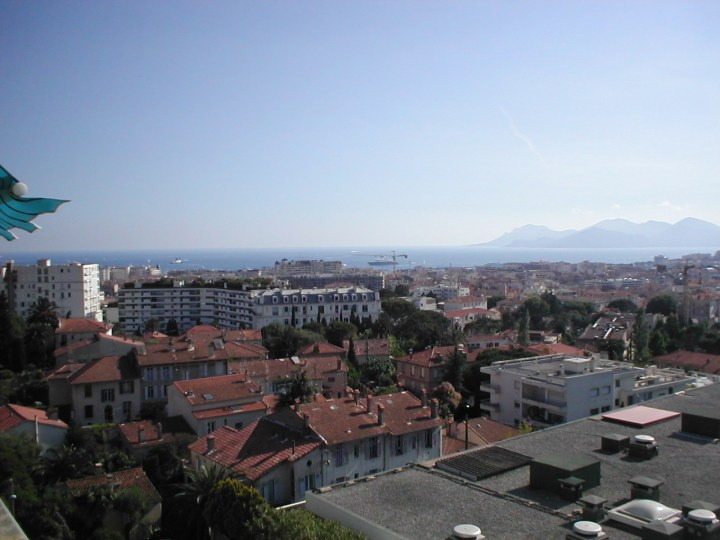 Hillside view over Cannes
