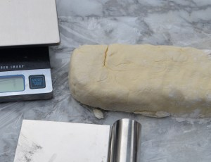 Rugelach Dough Brick Before Dividing into 8 Sections