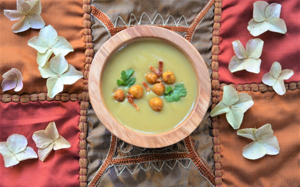 Indian Spiced Chickpea and Roasted Cauliflower Soup