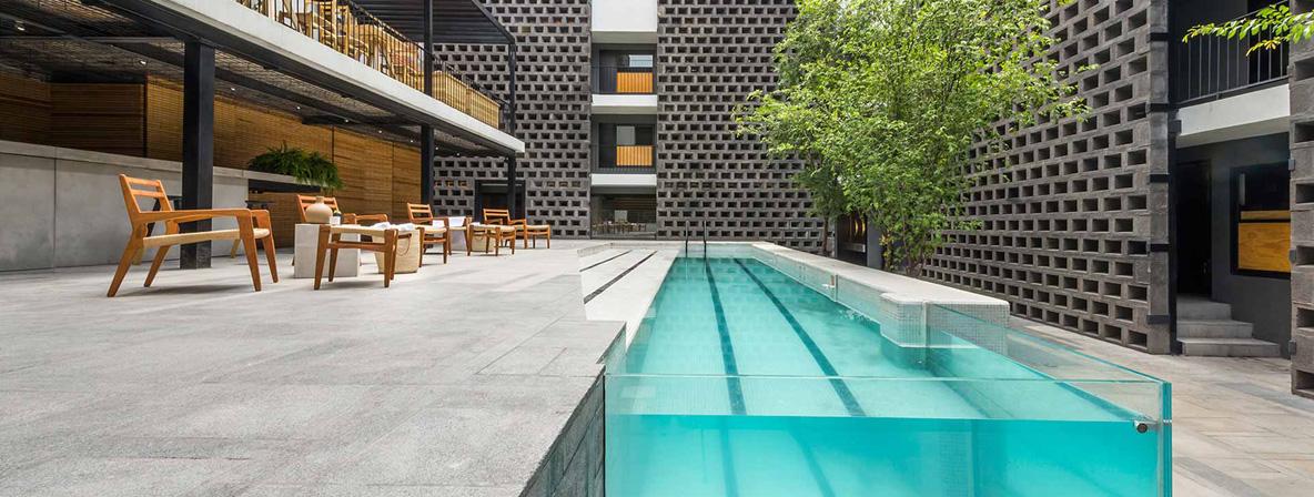 Modern Mexican urban design at Hotel Carlota Mexico City