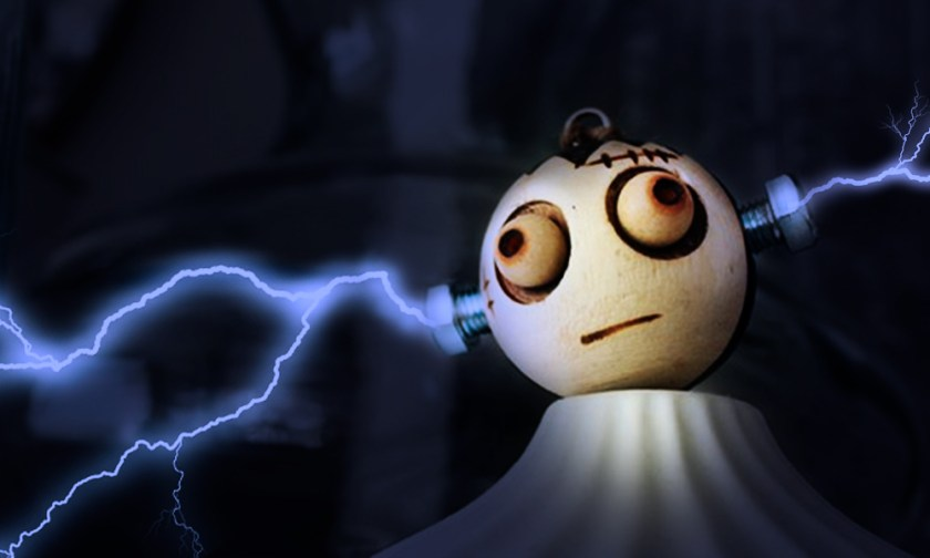 The Best Advice So Far - overload - Frankenstein-like coconut with lightning striking ear bolts