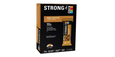STRONG & KIND Protein Bars Honey Mustard Savory Snack Bars