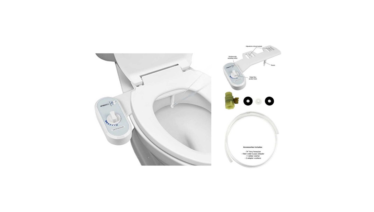 Greenco Bidet Fresh Water Spray Non Electric Mechanical Bidet Toilet Seat Attachment For 18 73 At Amazon The Best Deals Club
