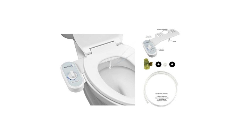 Greenco Bidet Fresh Water Spray Non Electric Mechanical Bidet Toilet Seat Attachment for