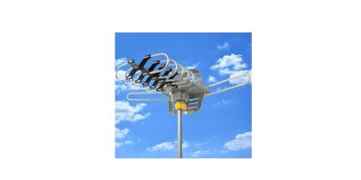 HDTV Rotor Remote Outdoor Amplified Antenna 360 degree UHF VHF FM HD TV 150 Miles