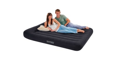 Intex Pillow Rest Classic Airbed with Built in Pillow and Electric Pump