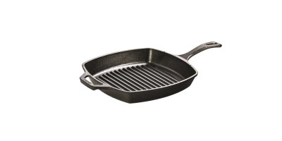 Lodge L8SGP3 Cast Iron Square Grill Pan Pre-Seasoned 10 5 inch