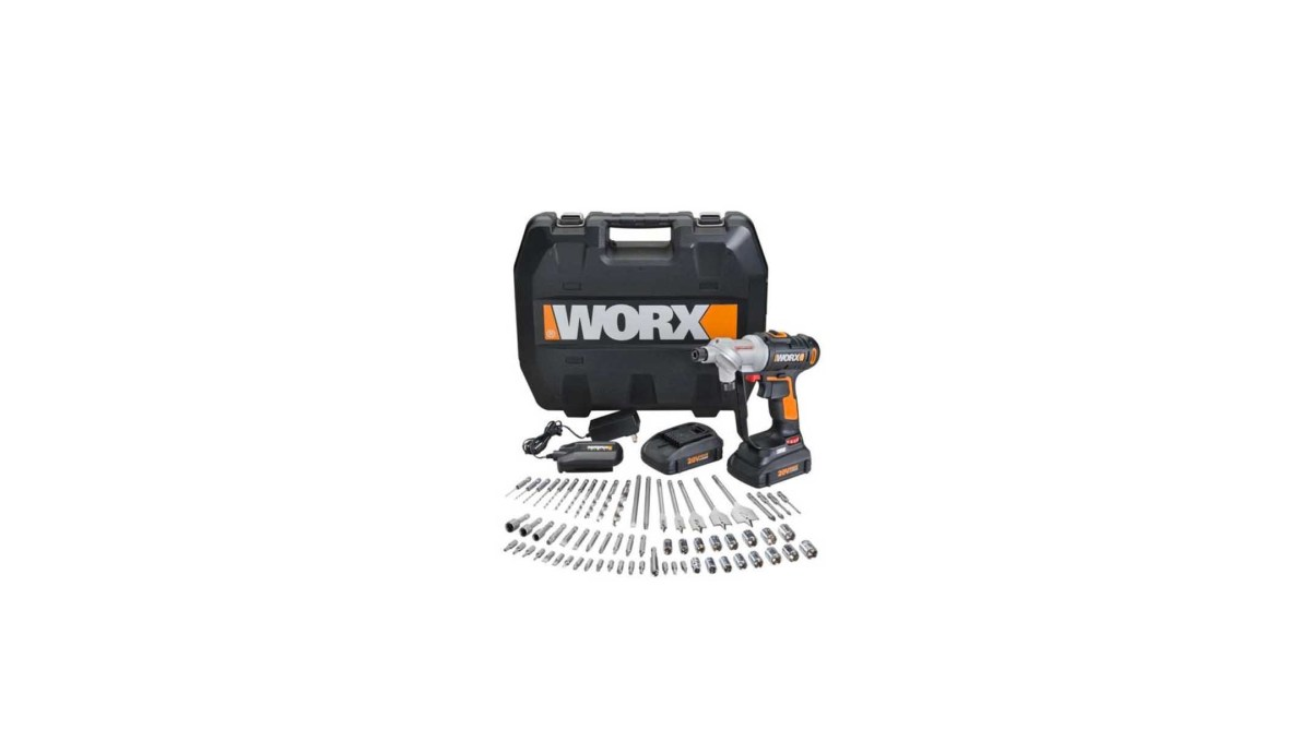 WX176L.1 WORX 67 pc. 20V Lithium Switchdriver Cordless Drill & Driver Set for $124.99 at eBay