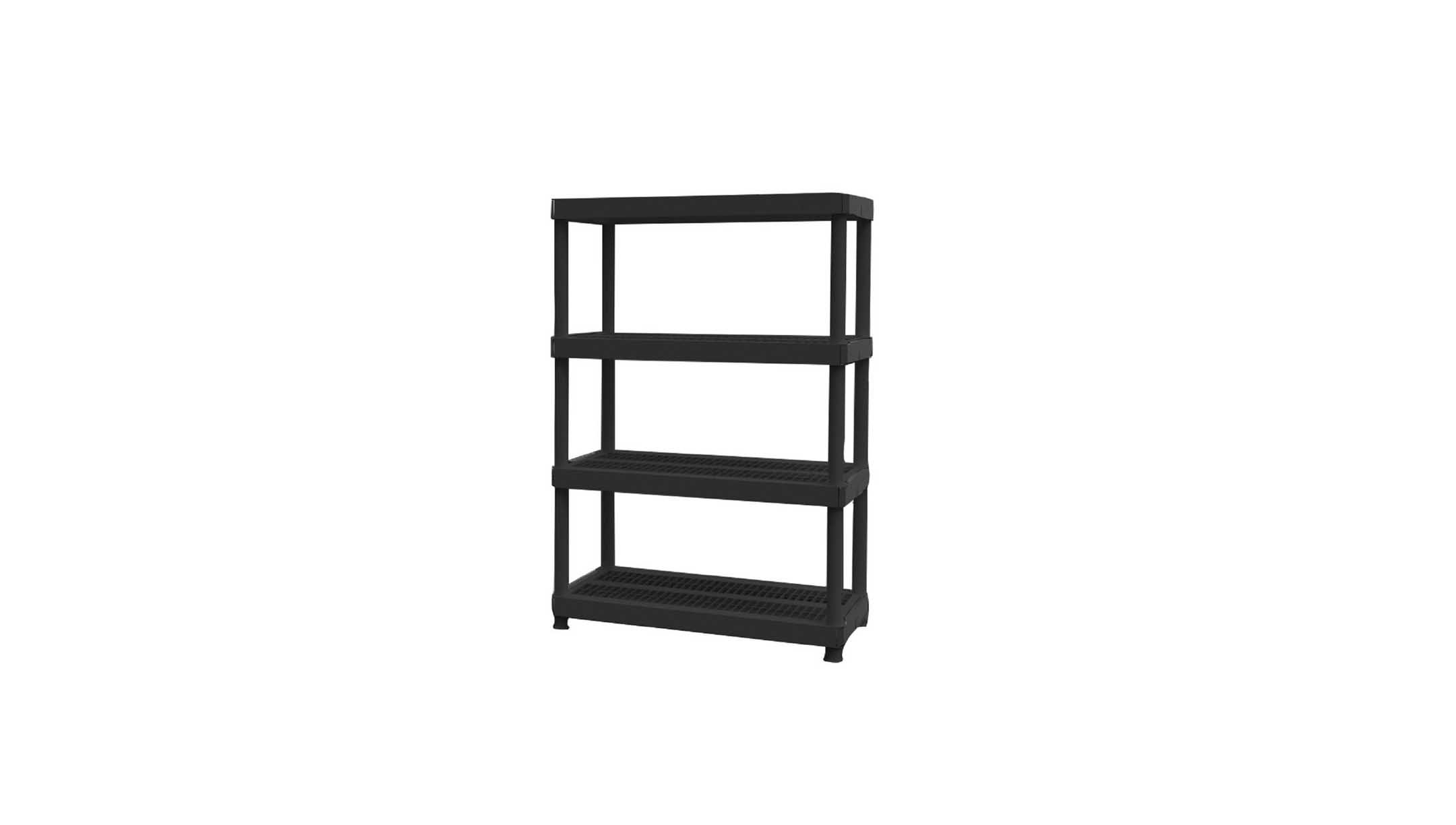 Superbe 4 Shelf Plastic Ventilated Storage Shelving Unit For $19.88 At The Home  Depot.