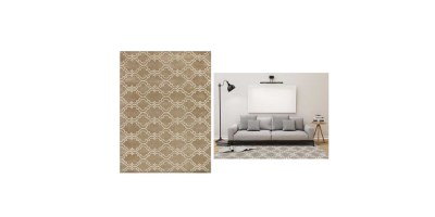AMERModern Collection Wool Area Rug – 5x8inch