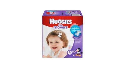 HUGGIES Little Movers Diapers, Size 5 – 50 Diapers