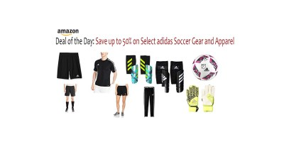 Deal of the Day- Save up to 50% on Select adidas Soccer Gear and Apparel