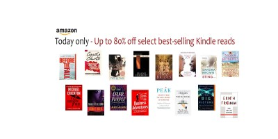 Today only – Up to 80% off select best-selling Kindle reads