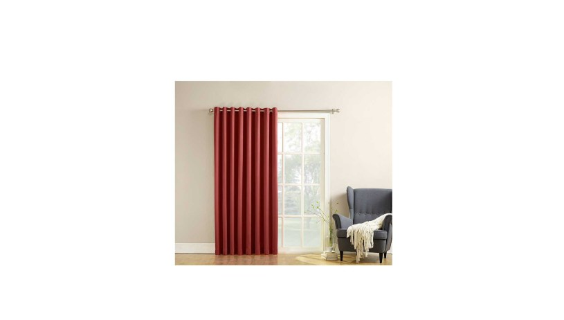 Sun Zero Barrow Energy Efficient Patio Door Curtain Panel For 1606