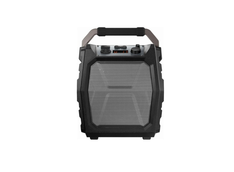 "Insignia - 6-1/2"" Powered Wireless 2-Way Speaker (Each) (Gray/black)"