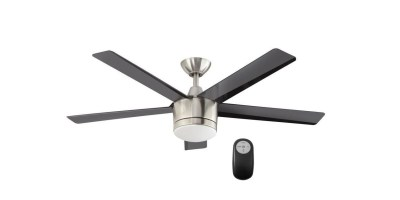 Merwry 52 in. LED Indoor Brushed Nickel Ceiling Fan with Light Kit and Remote Control