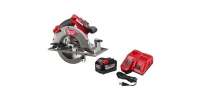 Milwaukee M18 FUEL 18-Volt Lithium-Ion Brushless Cordless 7-1/4 in. Circular Saw Kit w/ (1) 9.0Ah Battery - (1) 24T Blade, Charger