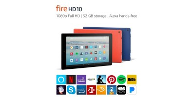Fire HD 10 Tablet with Alexa Hands-Free – 10.1 1080p Full HD Display (32 GB)