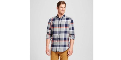 Men's Long Sleeve Lightweight Flannel Button Down Shirt – Goodfellow & Co Casual
