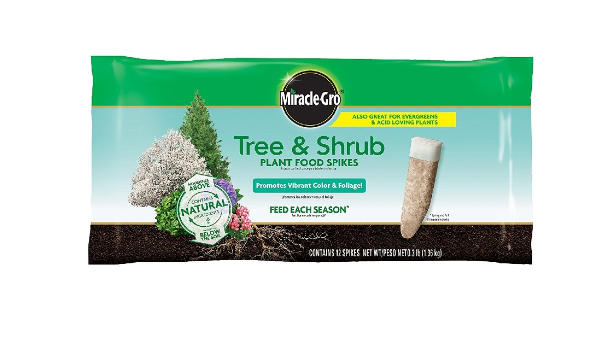 12 Pack Miracle-Gro Tree & Shrub Fertilizer Spikes for $6.97 at Amazon