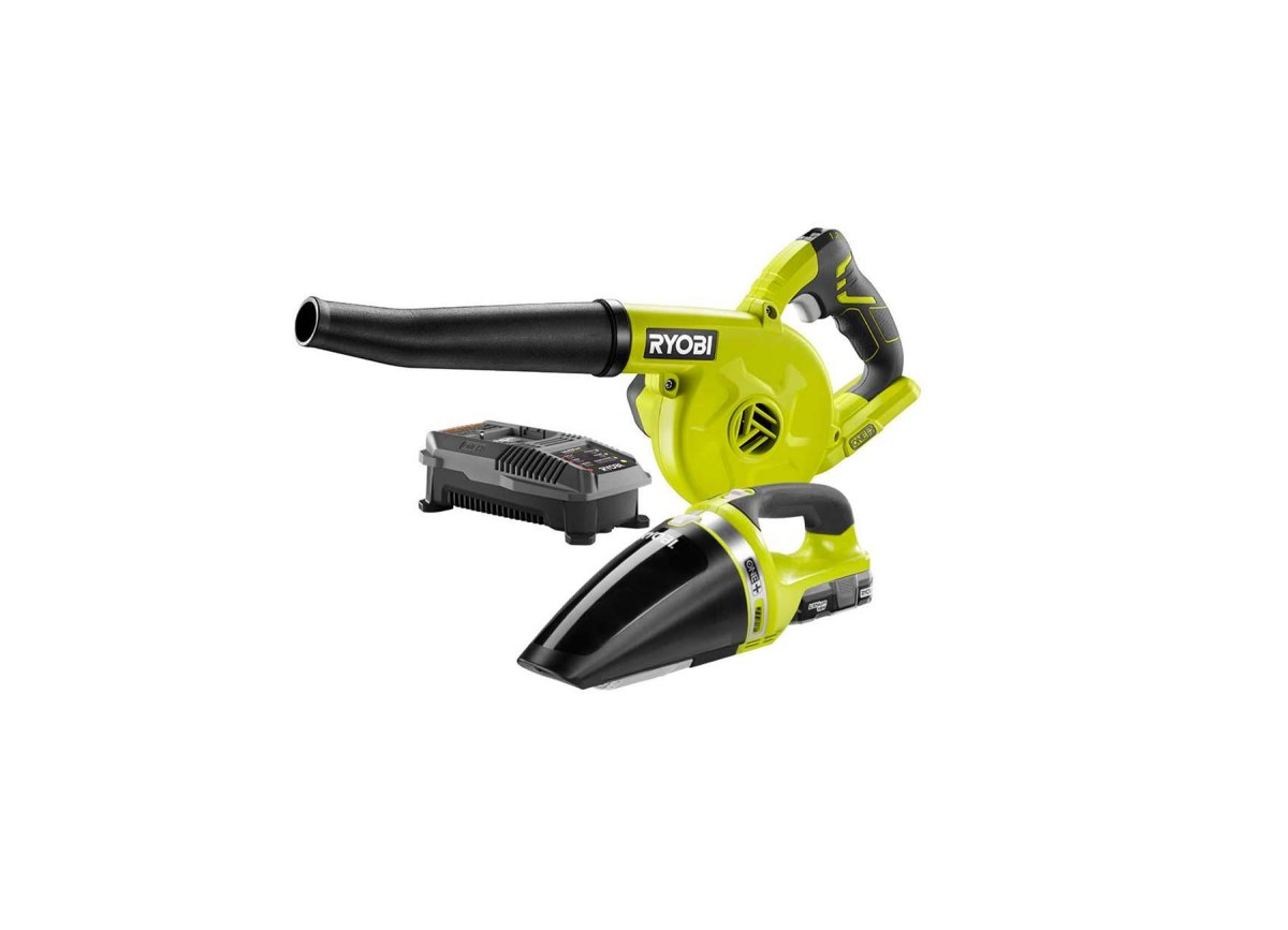 Ryobi 18-Volt One+ Lithium-Ion Cordless Sweeper and Vacuum Combo Kit for $59.00 at The Home Depot