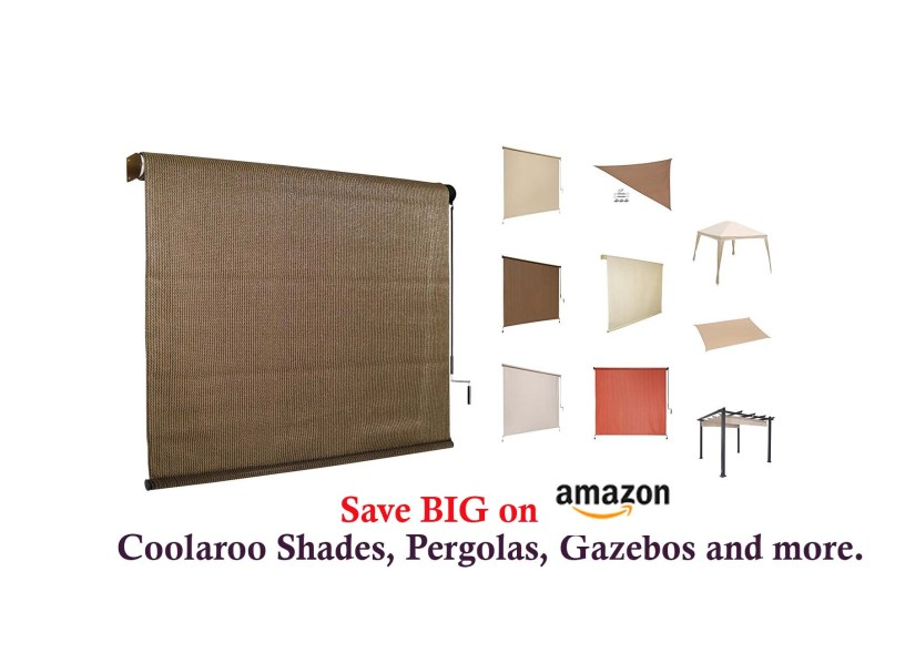 6ft x 6ft Coolaroo Outdoor Cordless Roller Shade for $36.99 at ... Coolaroo Exterior Roller Shade on coolaroo roll up shades, coolaroo shades lowe's, coolaroo outdoor shades, coolaroo patio shades, coolaroo window shades, coolaroo sun shades, coolaroo shades replacement parts,