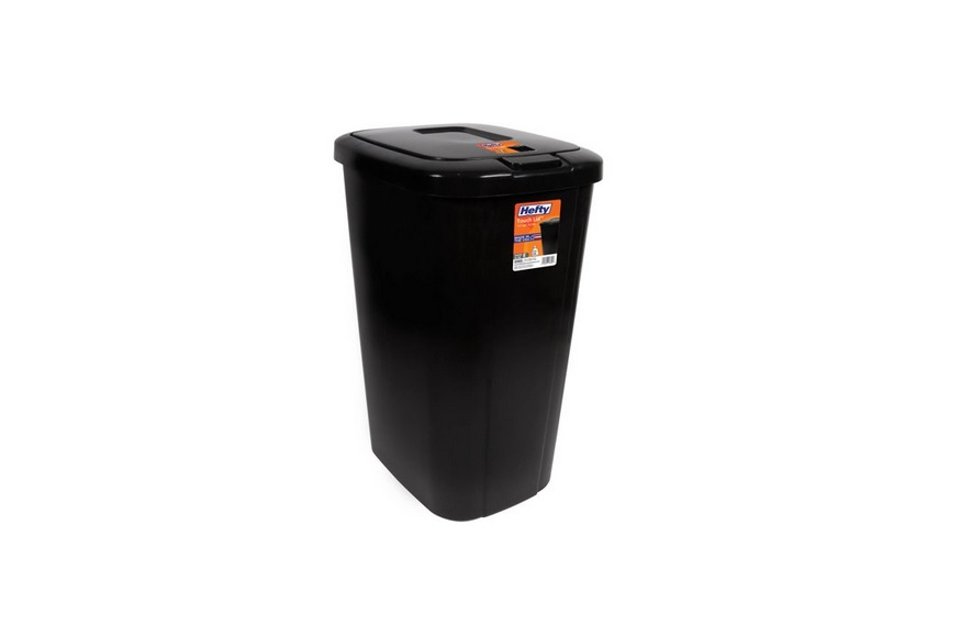 Hefty Touch-Lid 13.3 Gallon Trash Can for $8.50 at Walmart