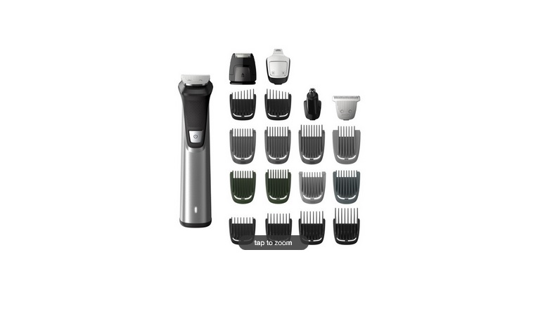 24 Piece Men's Philips Norelco Multigroom 7000 Rechargeable Trimmer