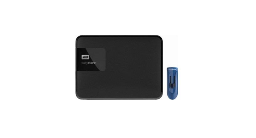 WD – Easystore 4TB External USB 3.0 Portable Hard Drive with 32GB Easystore USB Flash Drive
