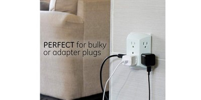 GE 6 Outlet Wall Plug Adapter Power Strip