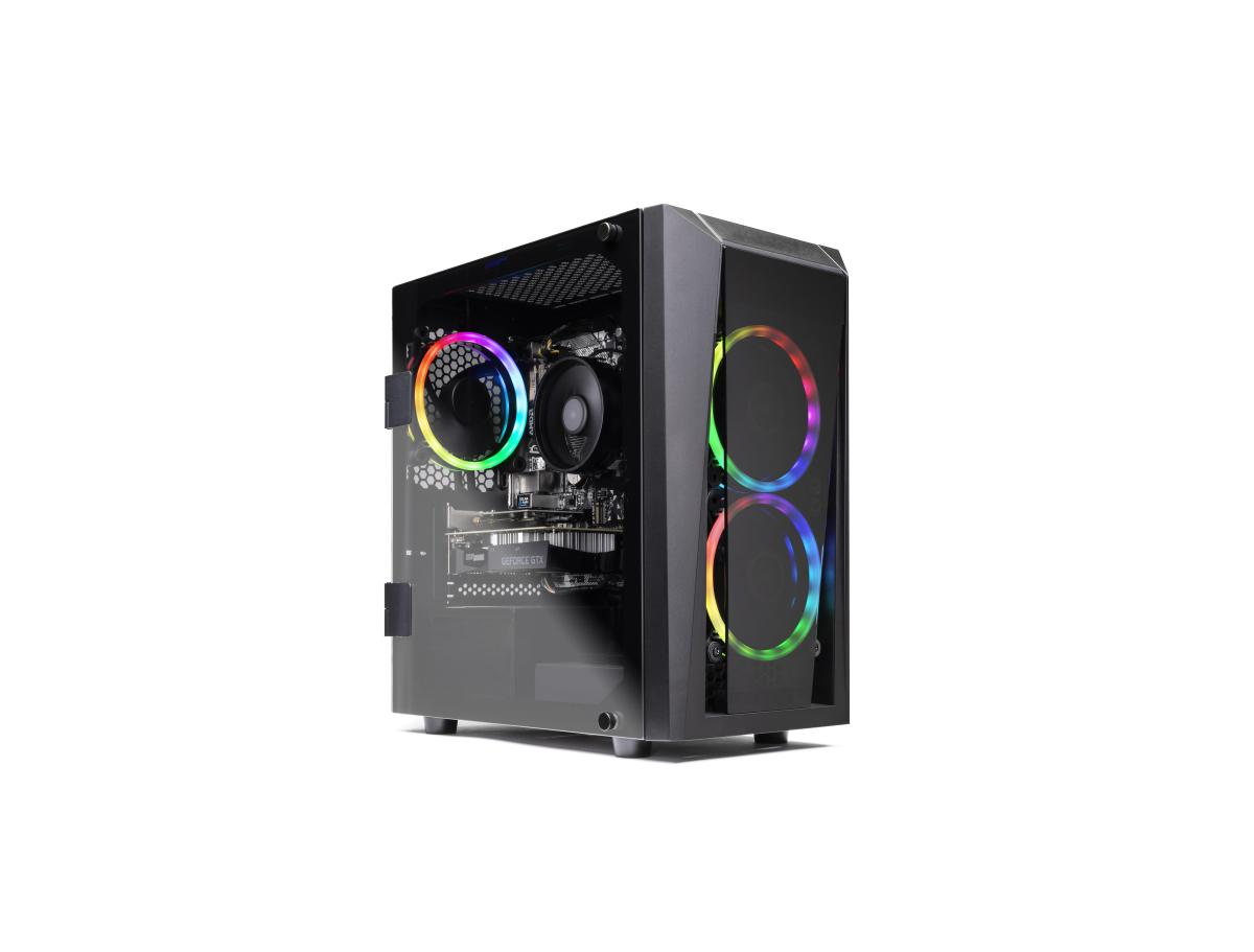 SkyTech Blaze II Gaming Computer PC Desktop Ryzen 5 2600 6-Core 3.4 GHz, NVIDIA GeForce GTX 1650 4G, 500G SSD, 8GB DDR4, RGB, AC WiFi, Windows 10 Home 64-bit for $679.99 at Walmart