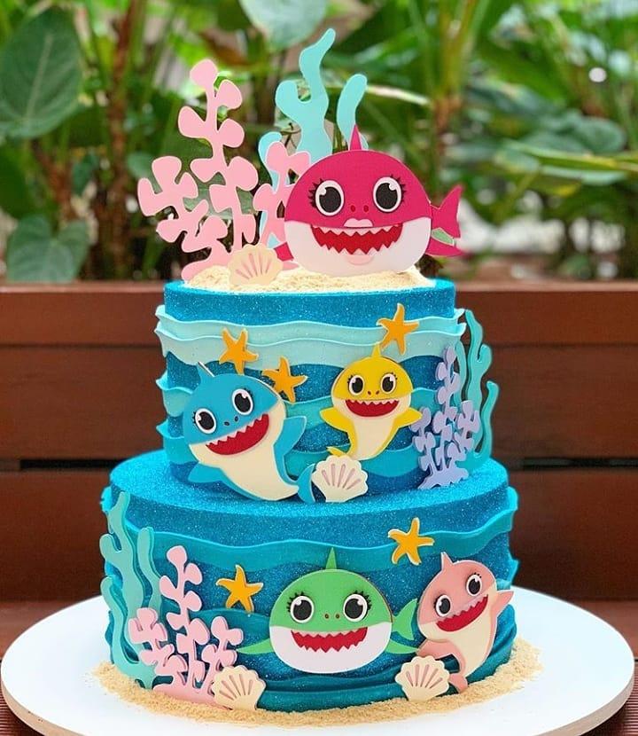 15 Adorable Baby Shark Birthday Cake Ideas They Re So Cute