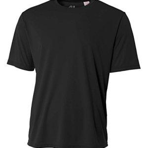 A4 Men's Cooling Performance Crew Short Sleeve T-Shirt, Black, Large