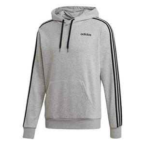 adidas Essentials Men's 3-Stripes Hoodie, Medium Grey Heather/Black, ...