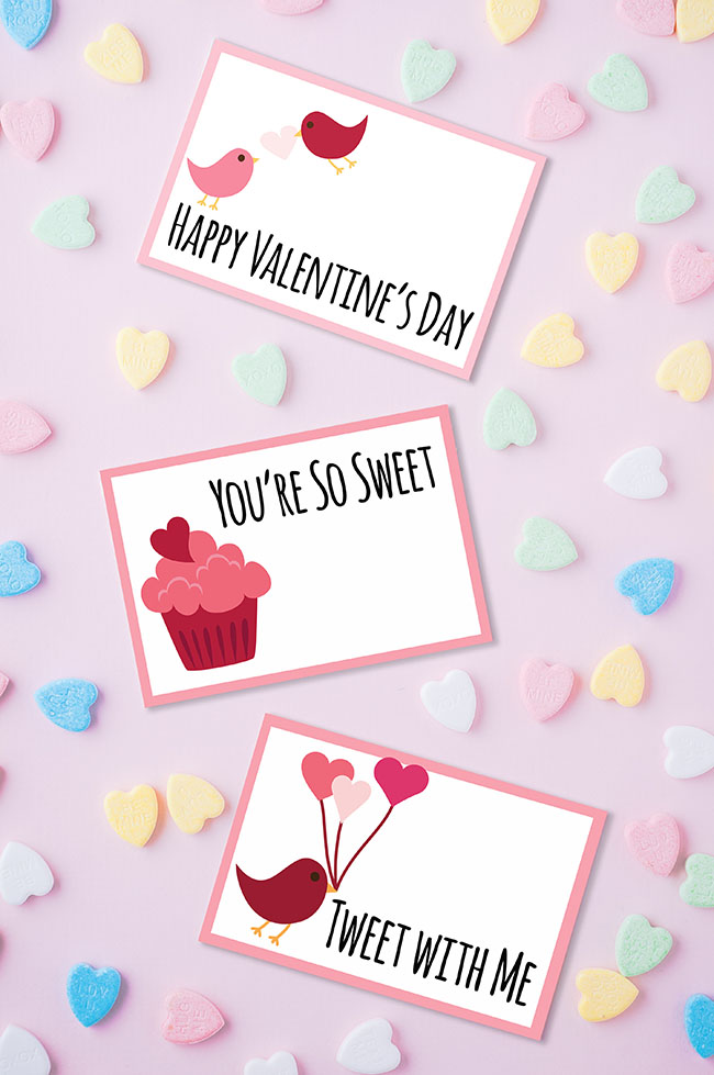 Printable tags for Valentines Day