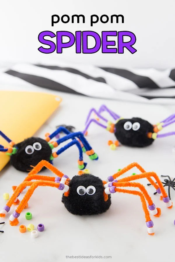 Pom Pom Spider Craft