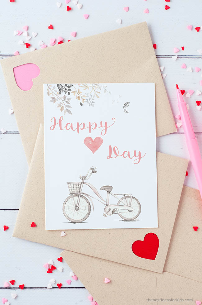 Happy Heart Day Printable Card