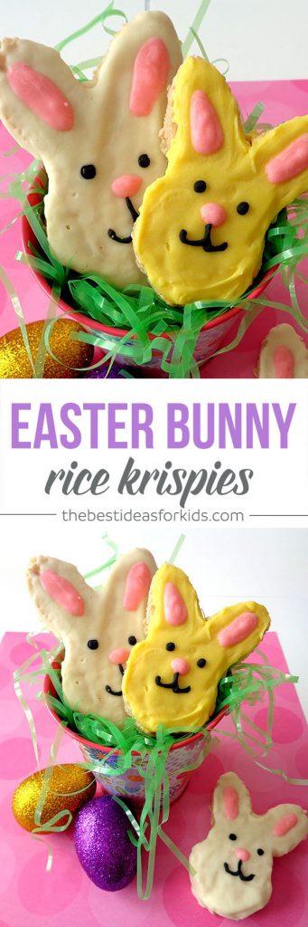 Easter Bunny Rice Krispies Treat