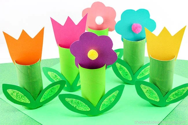 Toilet Paper Roll Flowers Craft   The Best Ideas for Kids Toilet Paper Roll Flower Craft