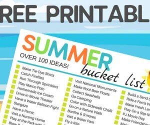 Free Printable Summer Bucket List