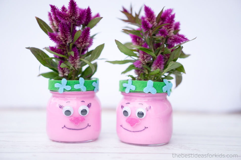 Trolls Poppy Mason Jars Party Idea