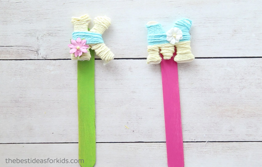 Yarn Wrapped Letters Craft