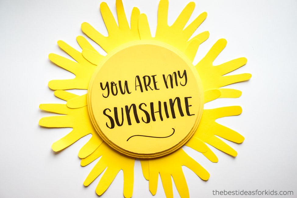 You are my sunshine handprint craft