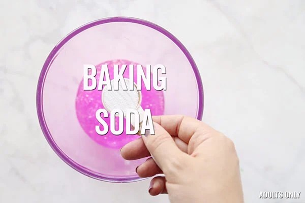 Baking Soda add to Slime