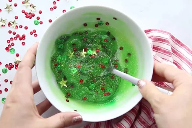 Add Contact Solution Christmas Slime